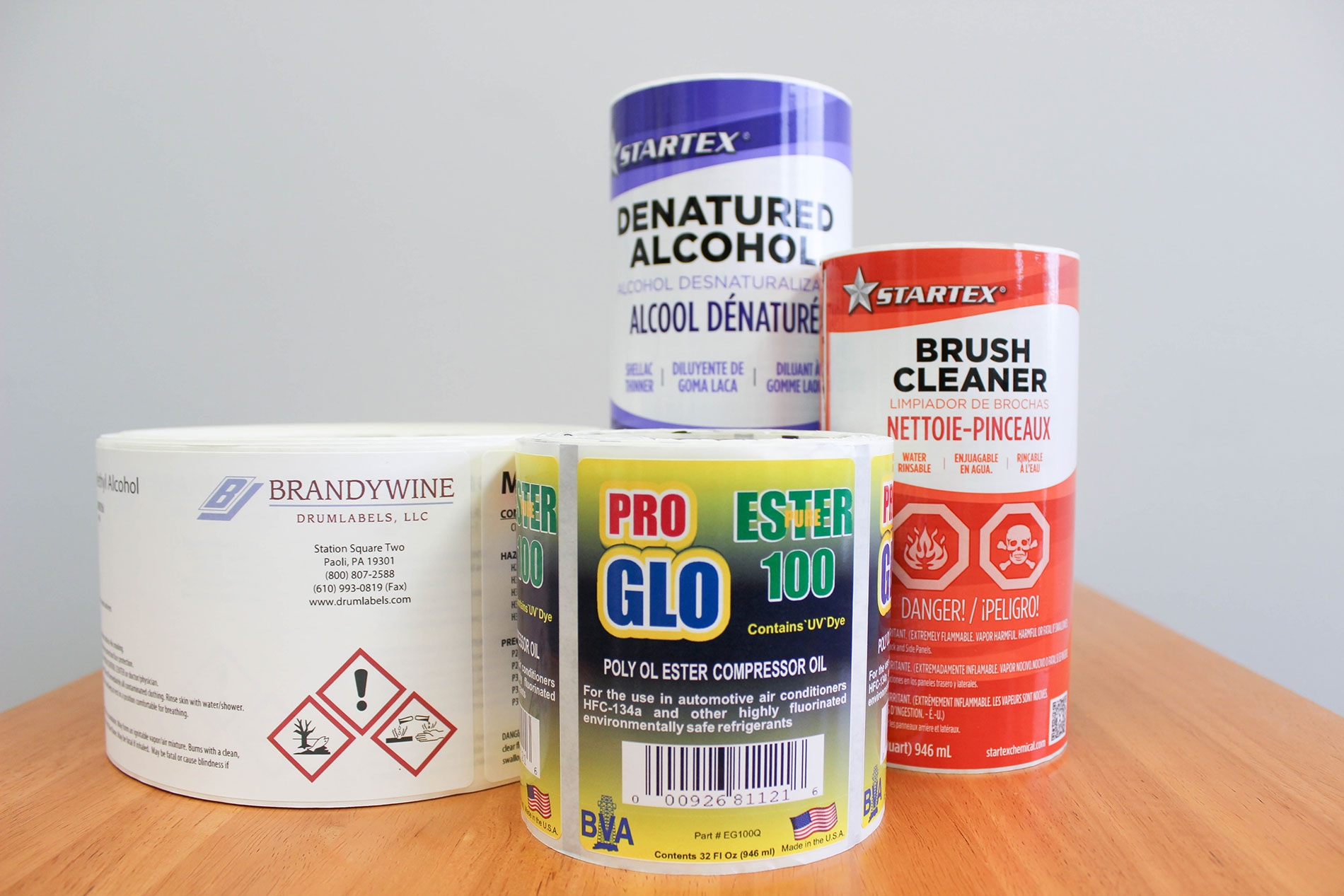 reduce your label SKUs to 5 or 6 sizes – one blank label for each container size