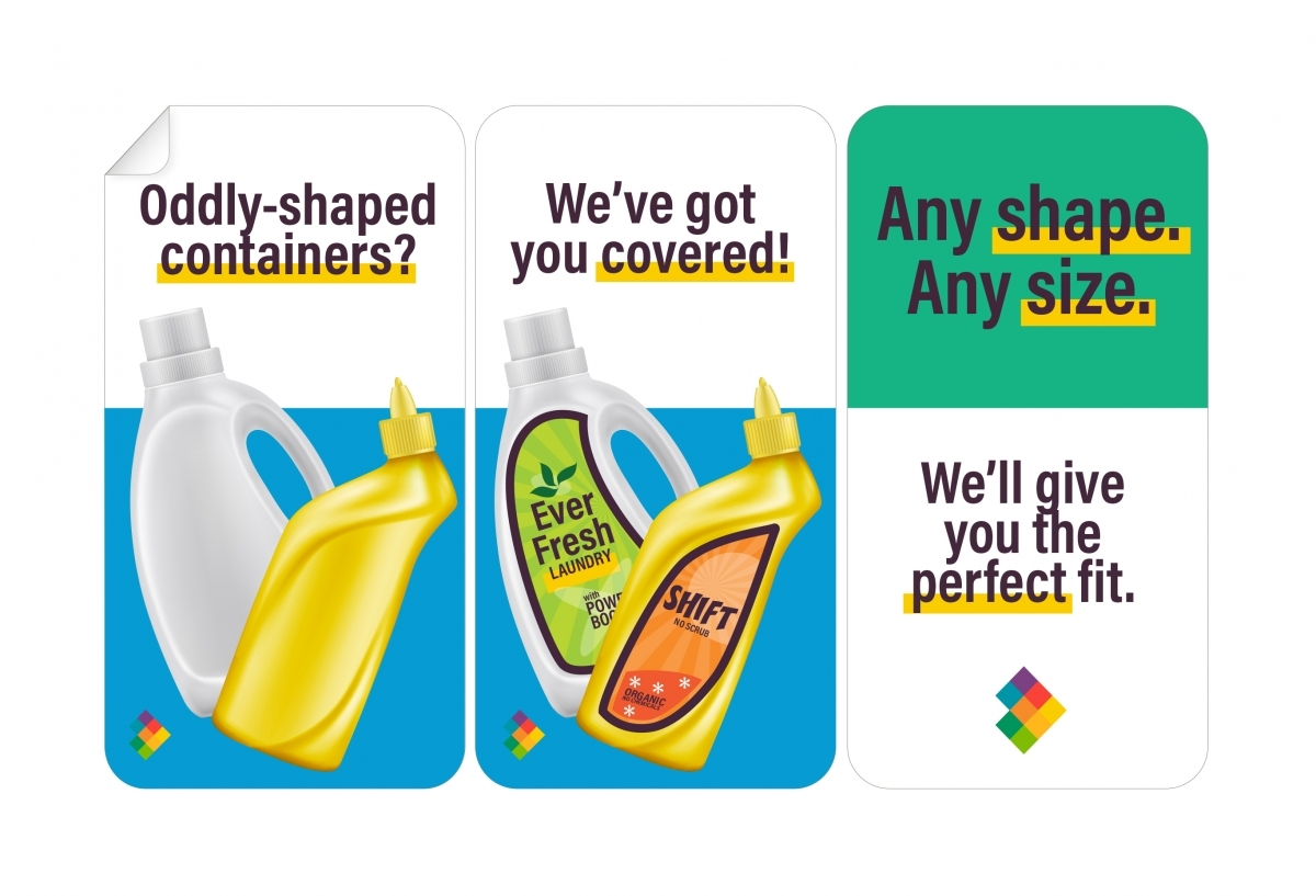 Specialty Shaped Labels for Containers of Any Size