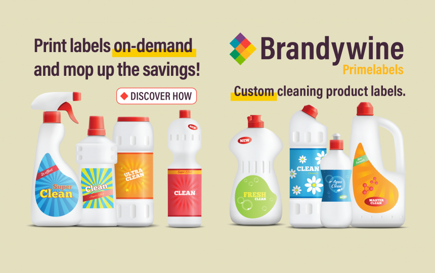 Save Money with Custom Cleaning Product Labels