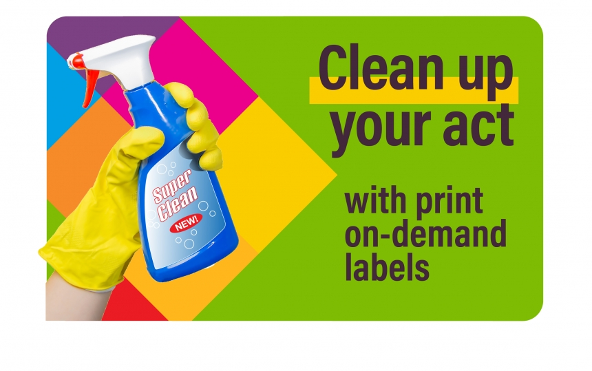 Durable Labels for Cleaning Supplies