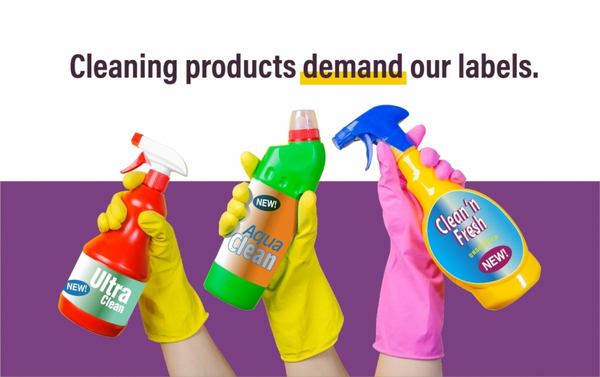 Cleaning supply product labels
